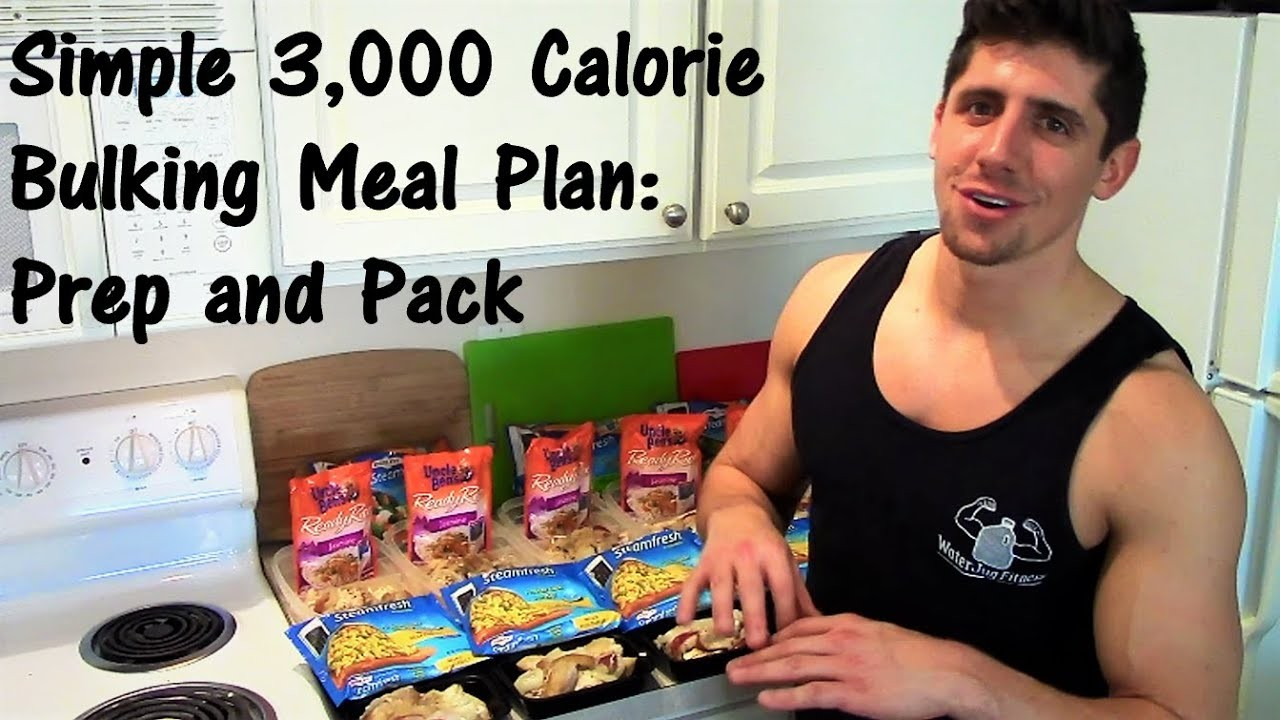 meal plan for 3 000 calories a day  Simple 3,000 Calorie Bulking Meal Plan: Prep and Pack ..