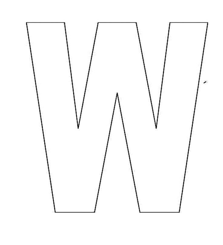 large letter w template  stencil letter w clipart - Clipground - large letter w template