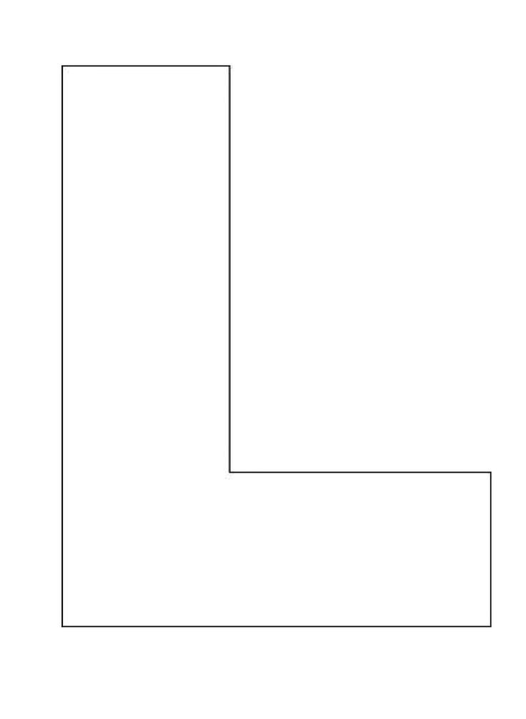 large letter l template  template for the letter L | Alphabet Letter Templates For ..