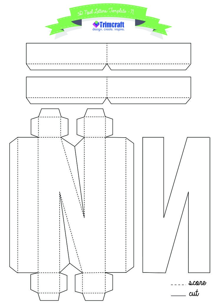 3d letter template  The 8 best 3D letter template images on Pinterest   3d ..