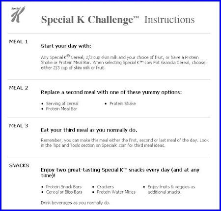 special k meal plan  The Special K Diet: Can You Lose Weight With The Special K ..