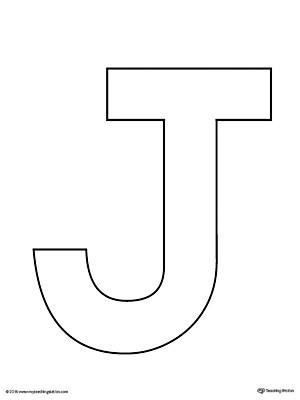 capital letter j template  Uppercase Letter J Template Printable | MyTeachingStation