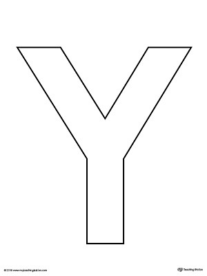 letter y template  Uppercase Letter Y Template Printable | MyTeachingStation