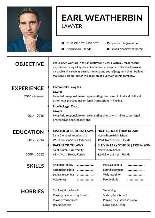 resume template lawyer  10+ Lawyer CV Sample PDF Templates | Free & Premium Templates - resume template lawyer