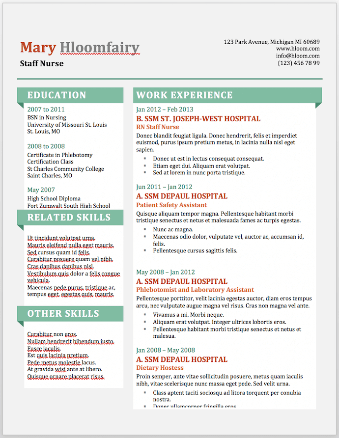word resume template 6  11 Free Resume Templates You Can Customize in Microsoft Word - word resume template 6