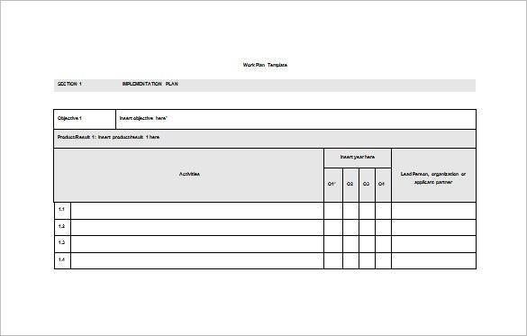 microsoft work plan template  15+ Work Plan Templates - Free Sample, Example, Format ..