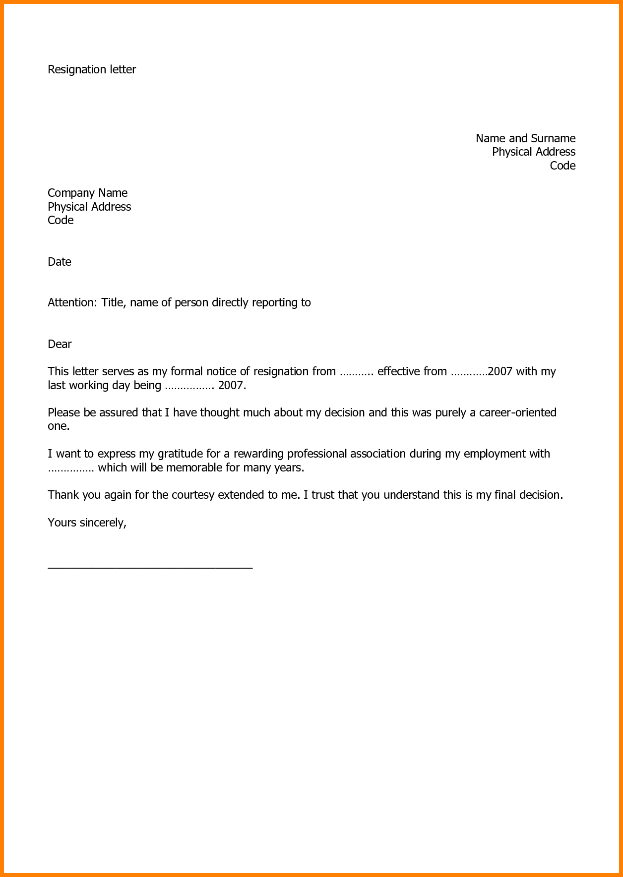resignation letter quitting job  30 New Quitting Job Letter Example (With images) | Job ..