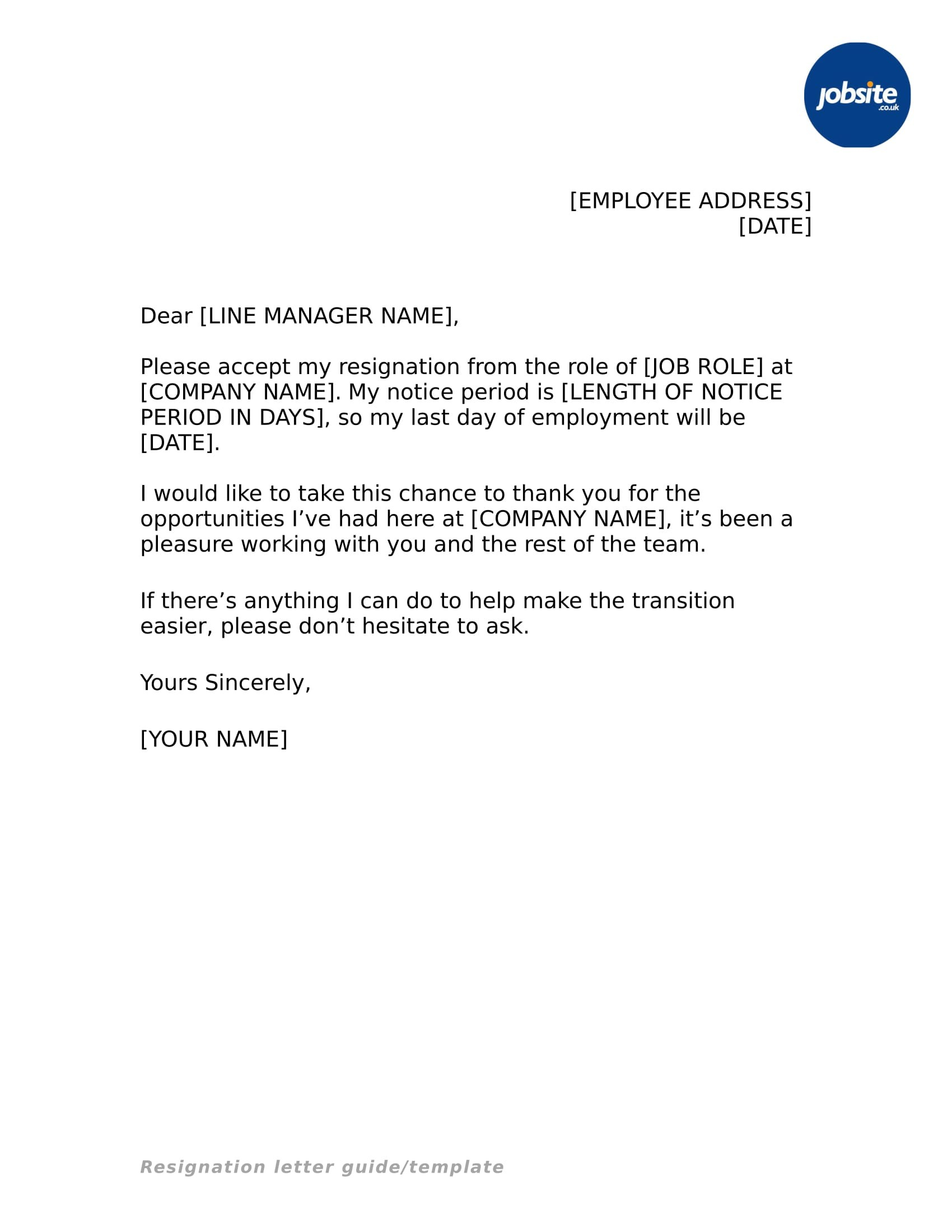 resignation letter very simple  35+ Simple Resignation Letter Examples - PDF, Word | Examples - resignation letter very simple