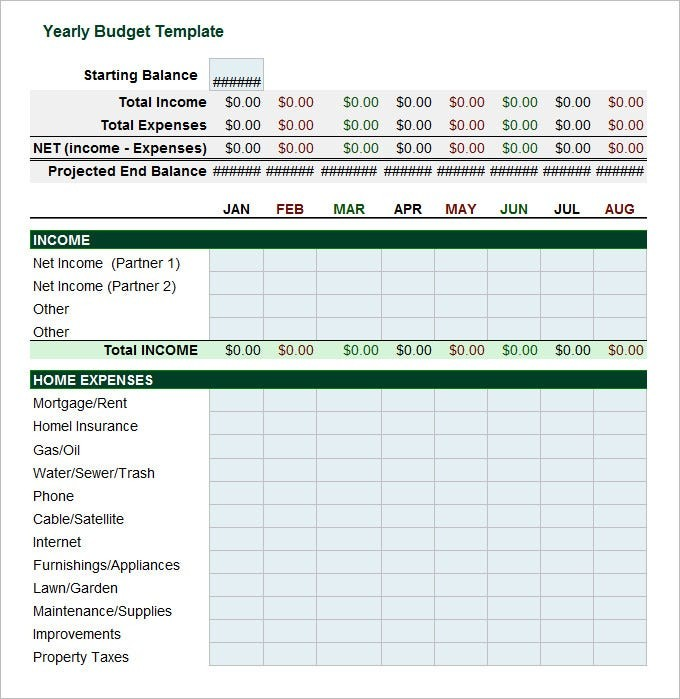 excel template yearly plan free download  5+ Yearly Budget Templates -Word, Excel, PDF   Free ..