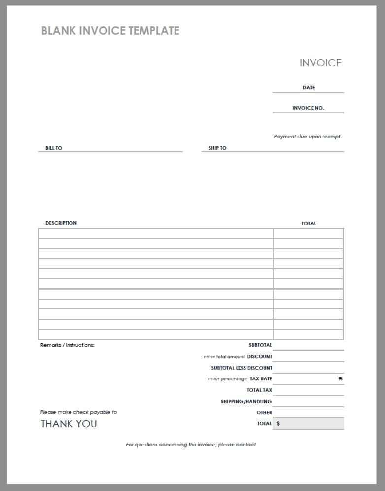create a blank invoice template  55 Free Invoice Templates | Smartsheet - create a blank invoice template