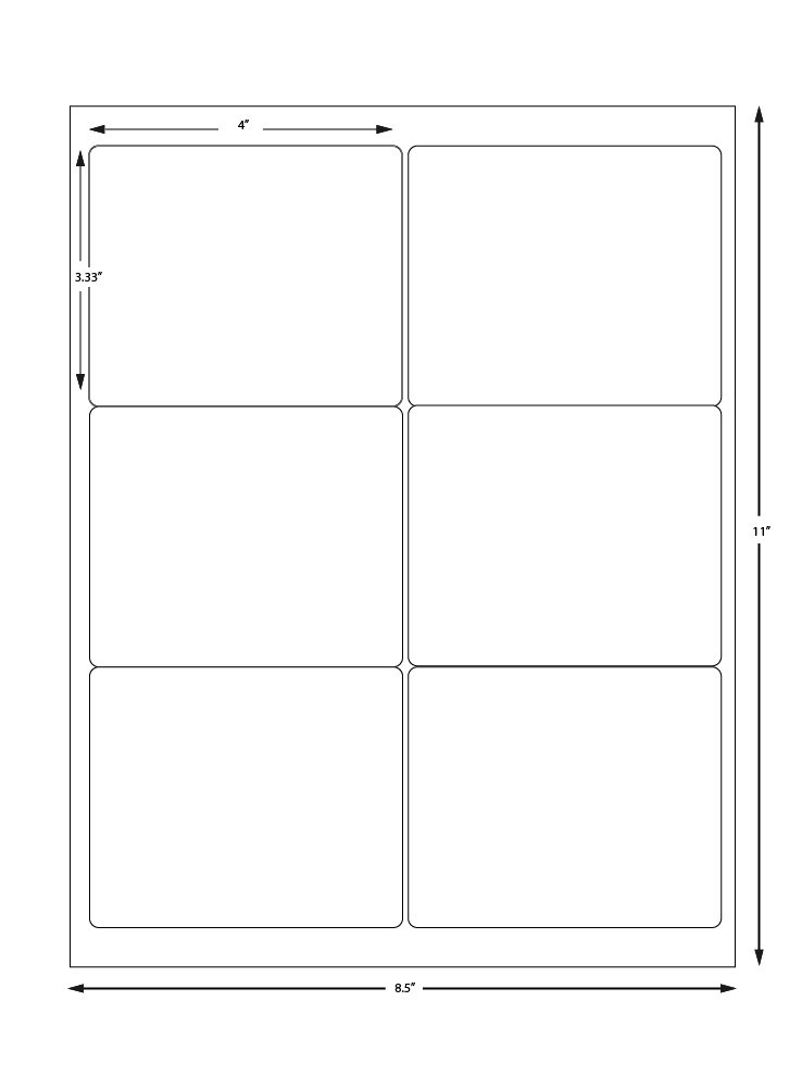avery label templates 6 per page  Avery Label Sheet 5164 Compatible - 6 Labels Per Sheet - avery label templates 6 per page