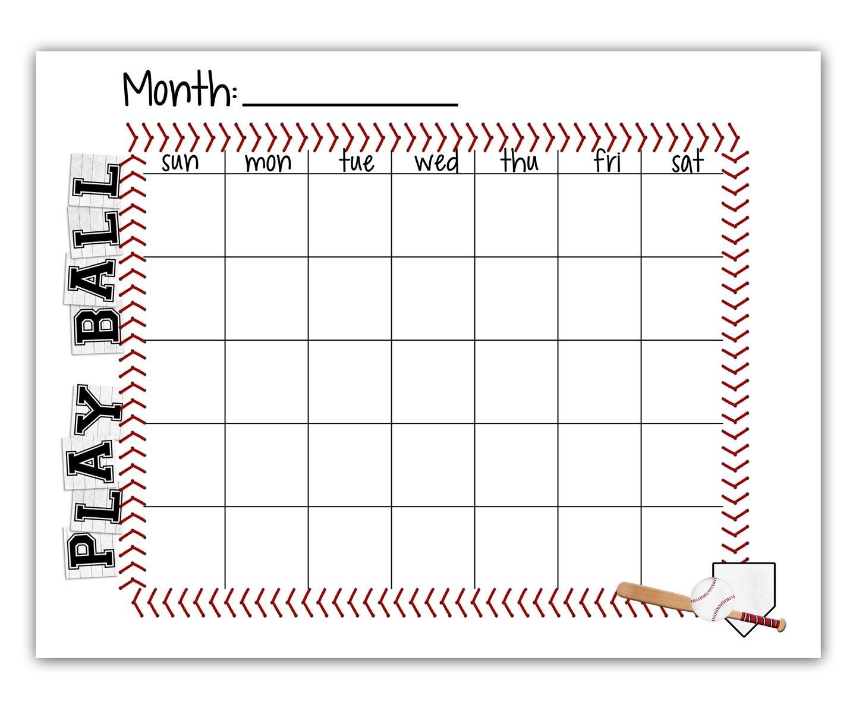calendar template baseball  Ball Schedule - FREE printable | Team mom baseball ..