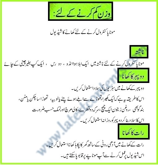 diet plan in urdu  Best Diet Plan For Weight Loss In Urdu - diet plan in urdu