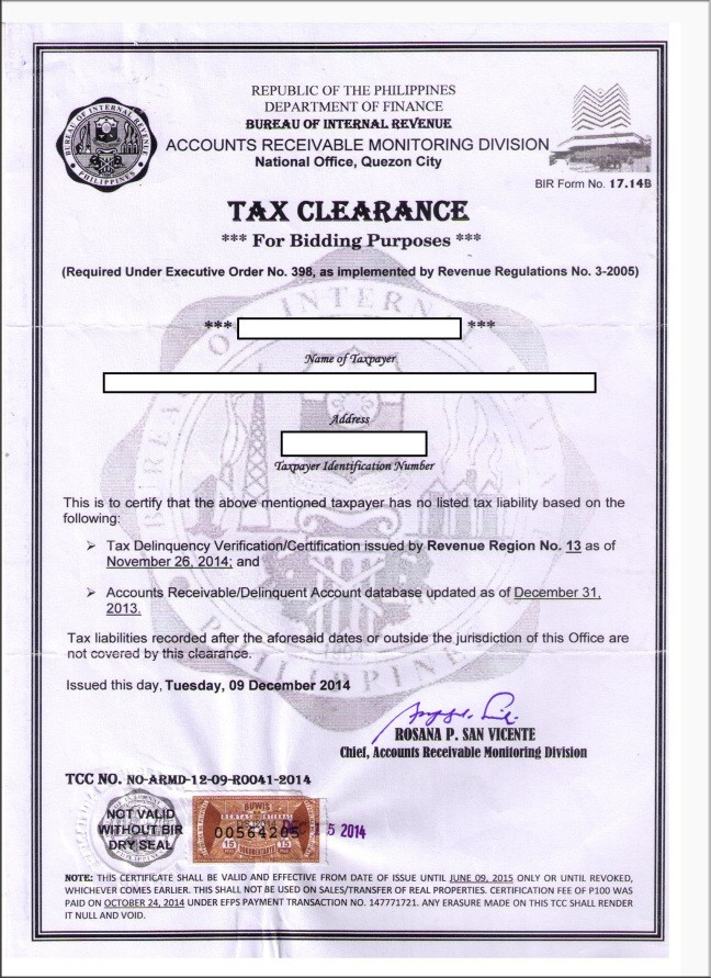 tax clearance letter usvi  BIR TAX CLEARANCE Corporation) – Requirements ..