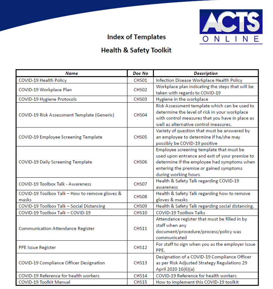 covid 19 plan template  Complete Occupational Health & Safety COVID-19 Plan - GT Shop - covid 19 plan template