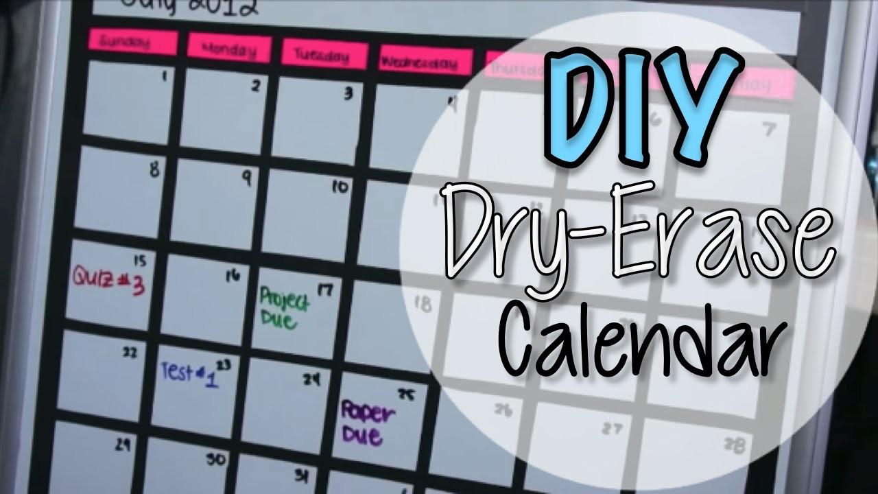 calendar grid template for 72 whiteboard  DIY Dry Erase Board Calendar - YouTube - calendar grid template for 72 whiteboard