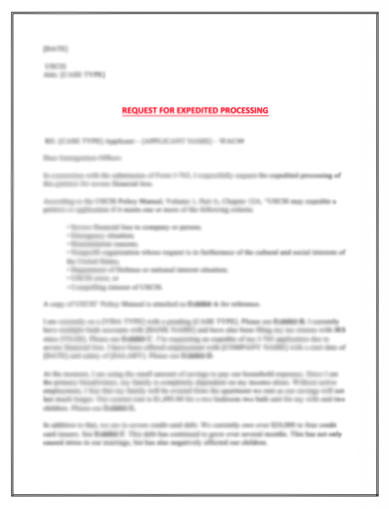 expedite request letter uscis  EAD Expedite Process: Getting Work Authorization Faster (I ..