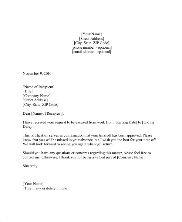 request for vacation letter sample  FREE 9+ Sample Vacation Request Letter Templates in PDF ..
