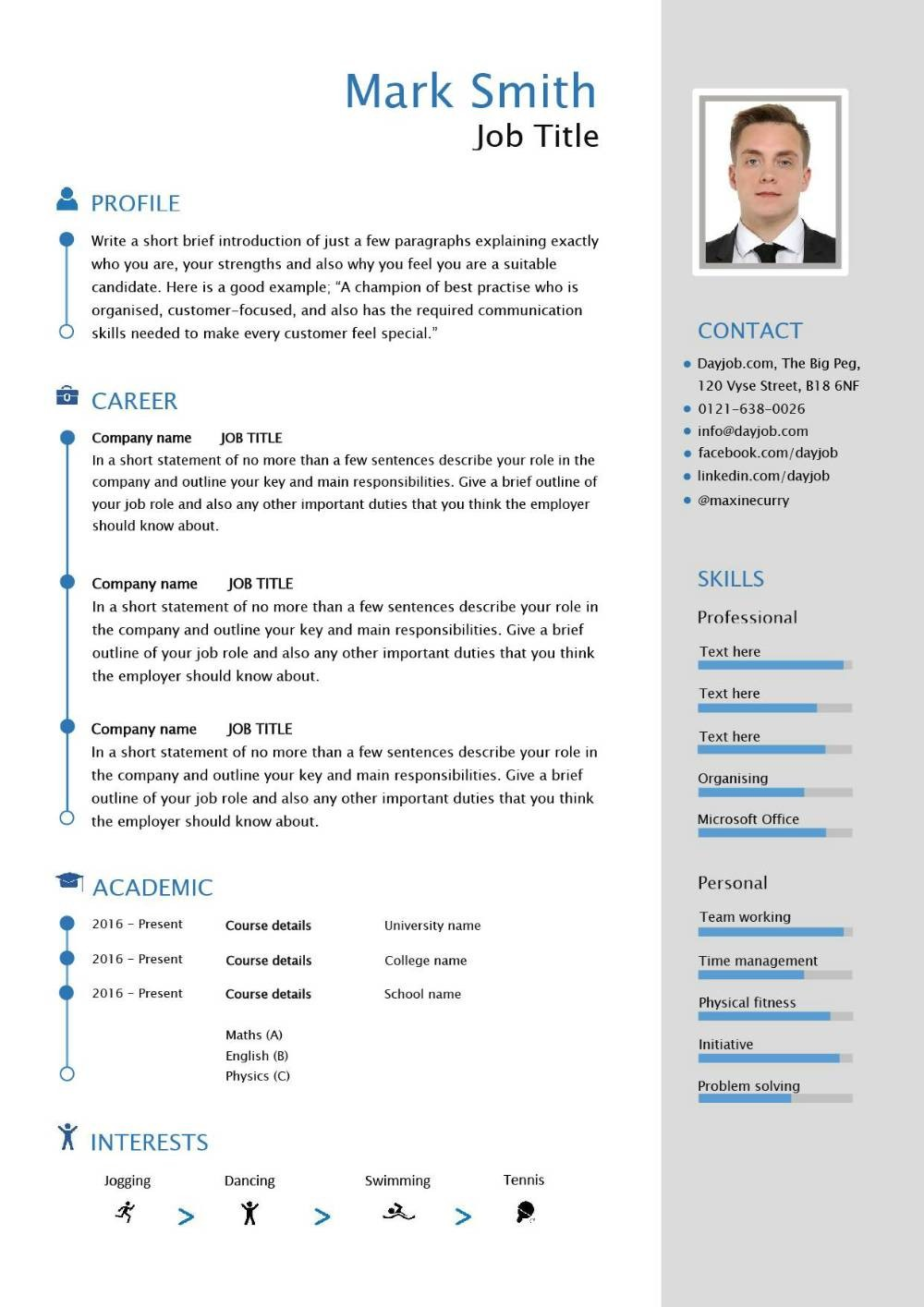 resume template uk  Interview winning CVs, Resumes and cover letters - resume template uk