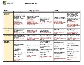 week 1 lesson plan template  Kindergarten Lesson Plan Week 1 by Blessed Homeschool Mama ..