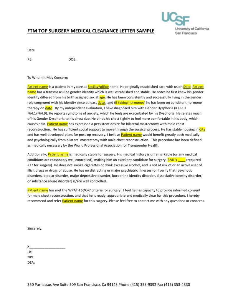 good health clearance letter  Medical Clearance Letter - good health clearance letter