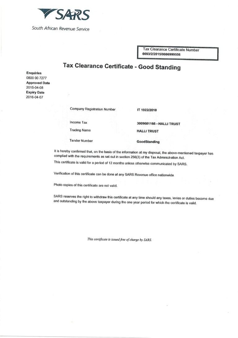 tax clearance letter new york  Tax Clearance Certificate