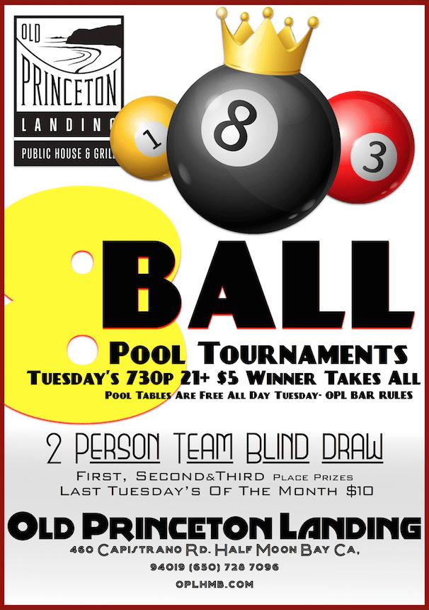 8 ball tournament flyer templates  Weekly 8-Ball Pool Tournament - Old Princeton Landing ..