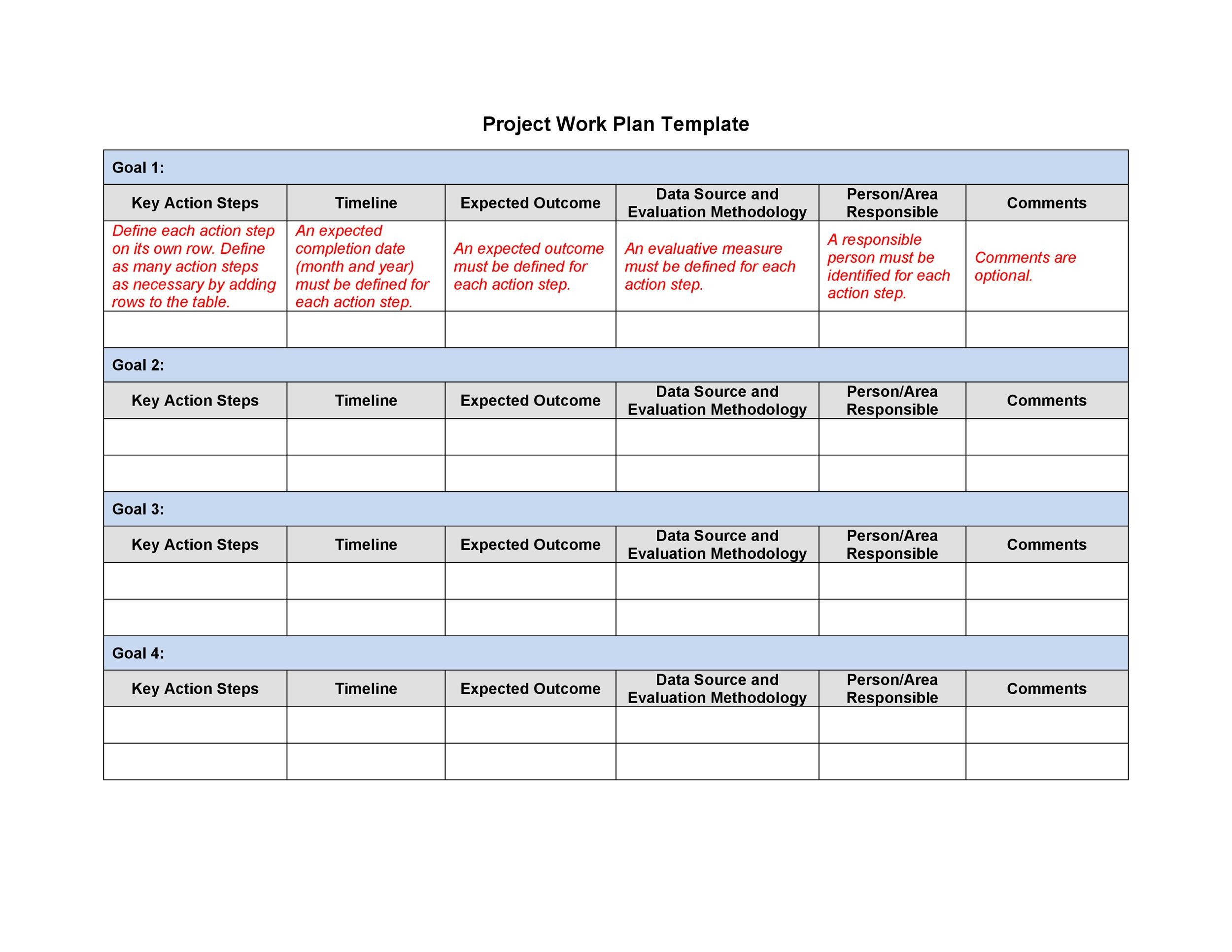 microsoft work plan template  Work Plan - 40 Great Templates & Samples (Excel / Word) ᐅ ..