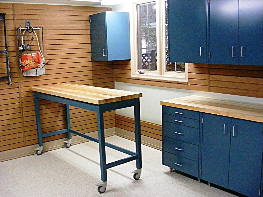 countertop ideas for garage  Garage Countertop Ideas Home Designs Cool Garage Workbench ..