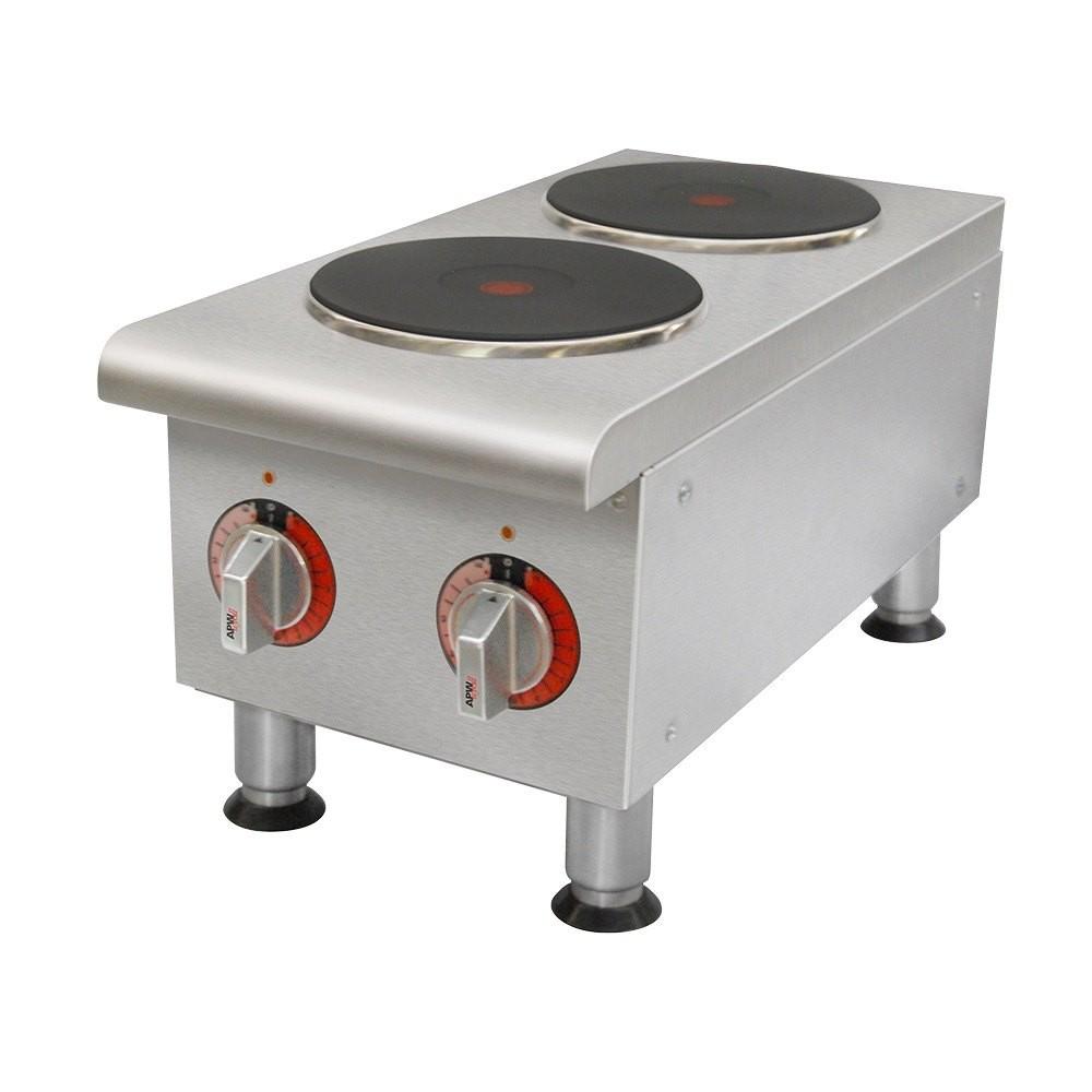 countertop burner electric  APW Wyott SEHPi Dual Solid Burner Countertop Electric Range - countertop burner electric