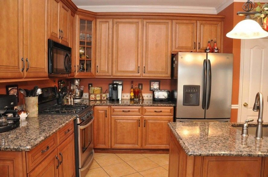 countertop colors that go with oak cabinets  Best Countertops for Oak Cabinets | ... Modern Granite ..