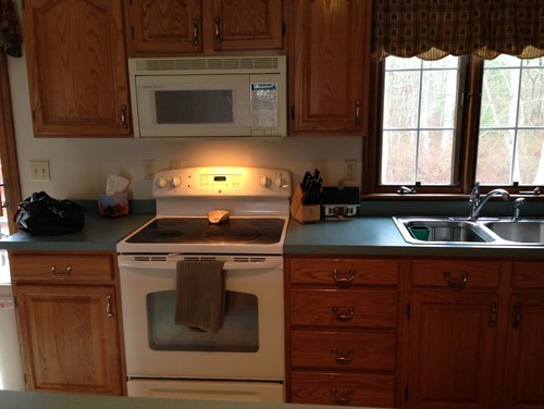 countertop colors that go with oak cabinets  What color laminate countertop to go with oak cabinets? - countertop colors that go with oak cabinets