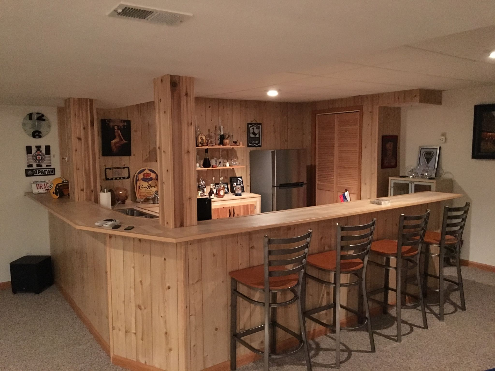 countertop bar setup  Would granite countertops look out of place with our ..