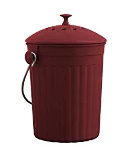 red countertop compost bin  Amazon.com: Natural Home 1-Gallon Red MOBOO Compost Bin ..