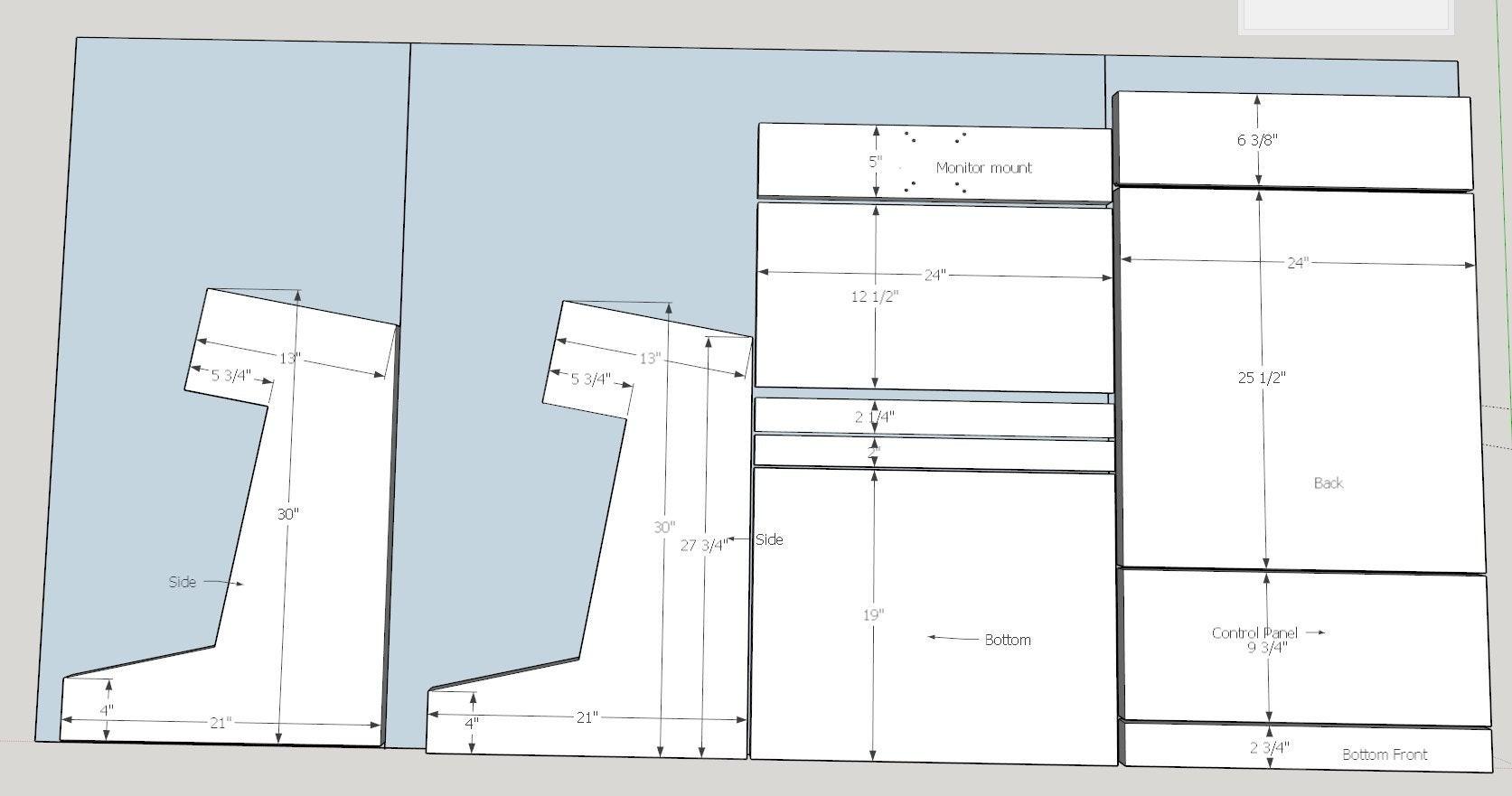 countertop arcade cabinet plans  DIY Bartop Arcade plans, thoughts? : cade - countertop arcade cabinet plans