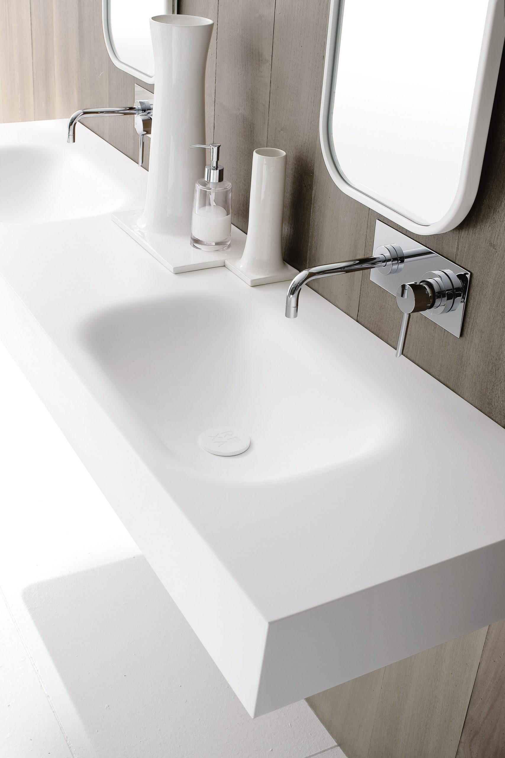 corian countertop bathroom sinks  DOUBLE CORIAN® WASHBASIN COUNTERTOP MOODE COLLECTION BY ..