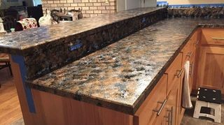 cover old countertop  I want to cover up or paint my old Formica counter tops in ..