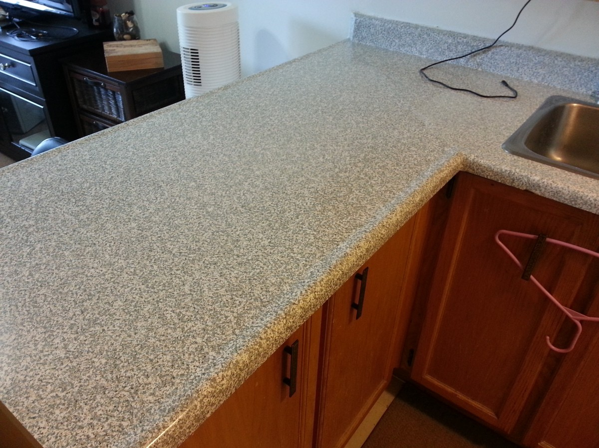 cover old countertop  Re cover old countertops with Con-Tact Papers!   newlywed ..