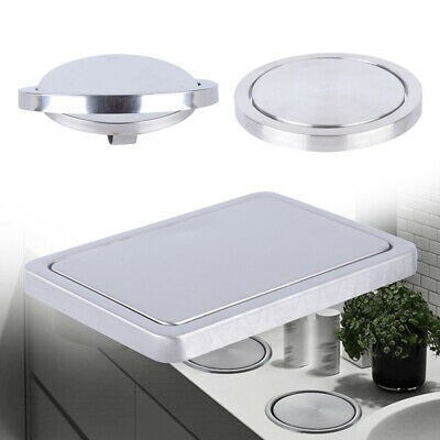 countertop cover trash bin built-in flap  Round/Square Brushed Steel Recessed Built-in Flap Lid ..