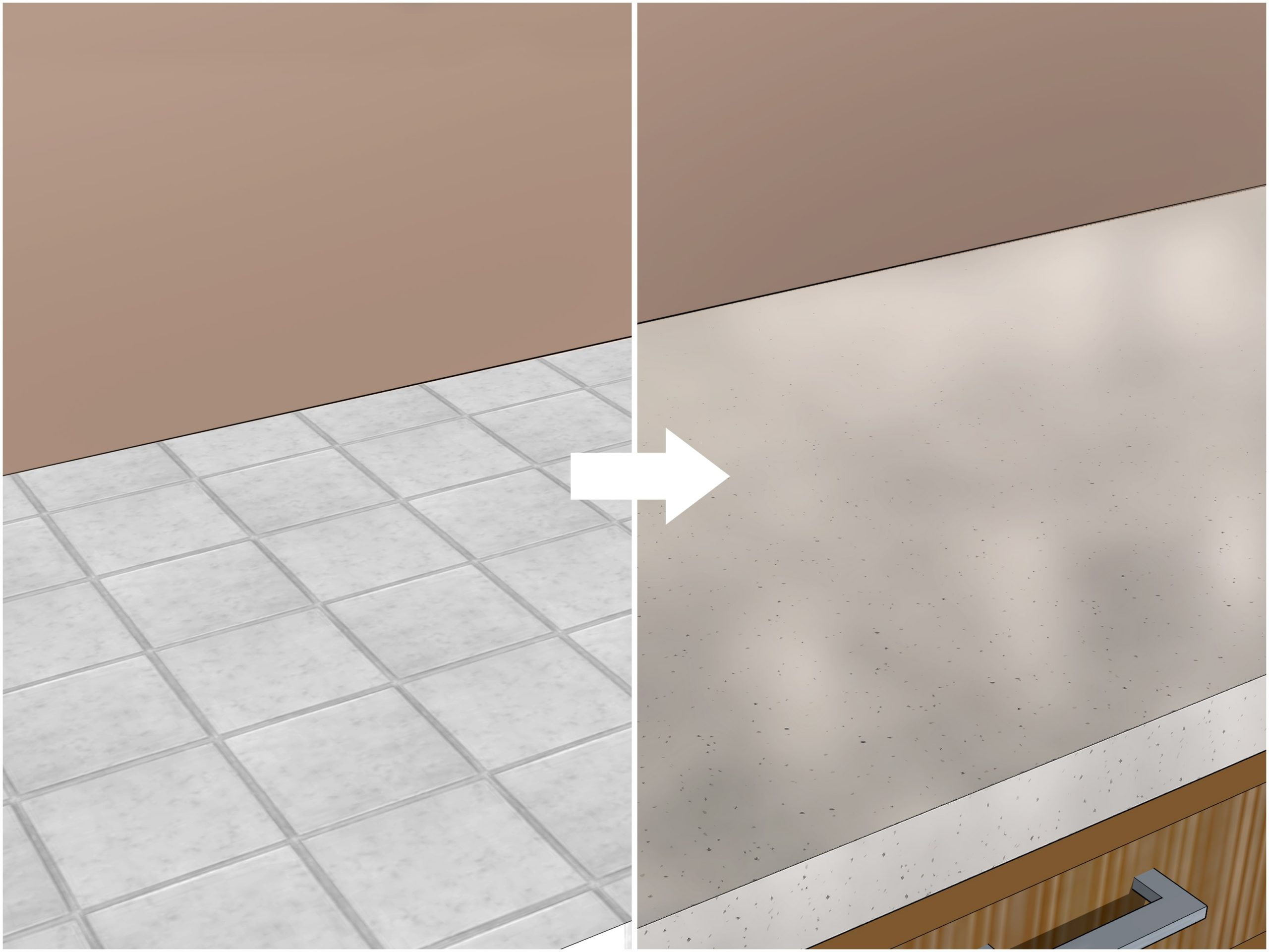 tile countertop cover up  Simple Ways to Cover Tiles Cheaply: 8 Steps (with Pictures) - tile countertop cover up