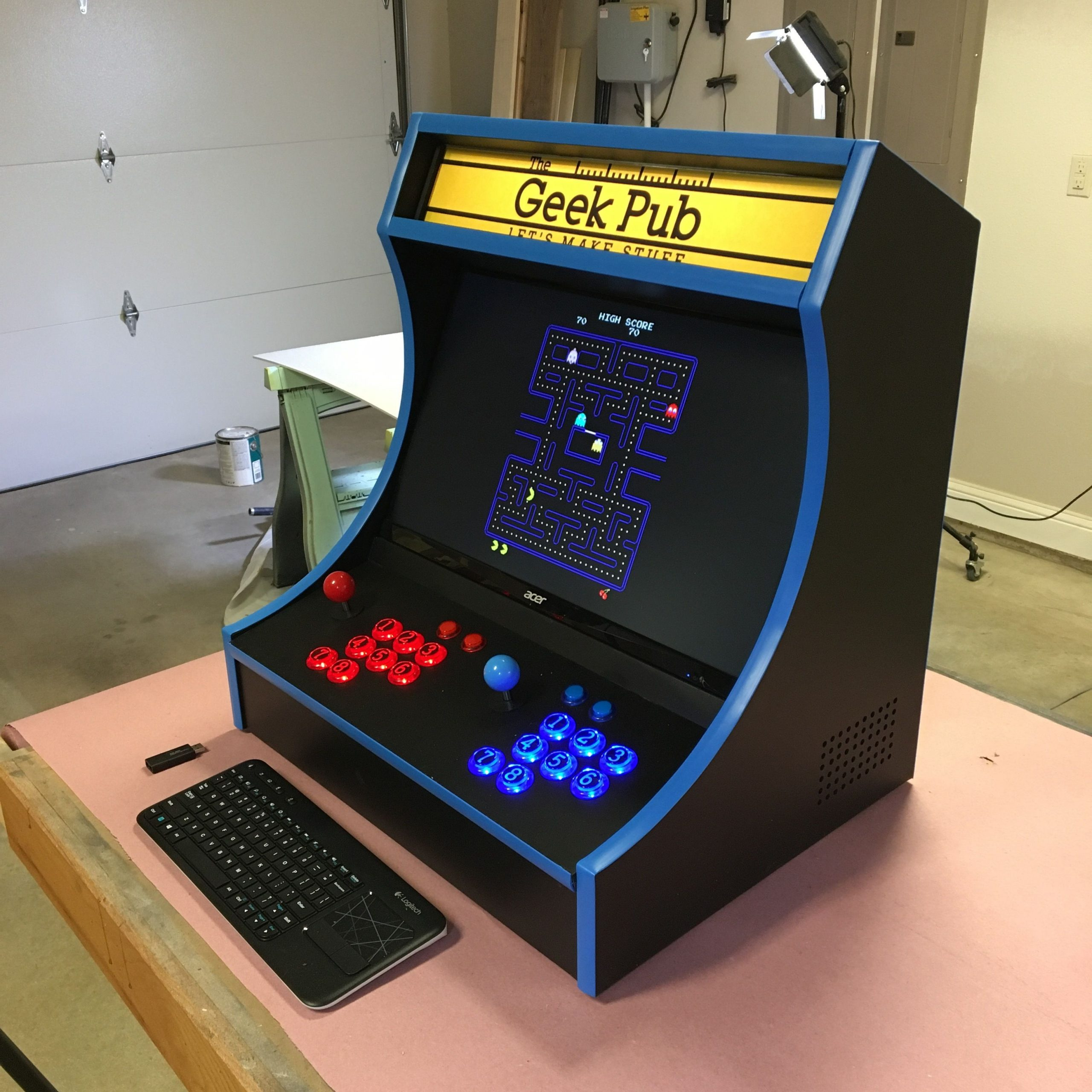 countertop arcade cabinet plans  Xtension Arcade Cabinet Dimensions | Cabinets Matttroy - countertop arcade cabinet plans