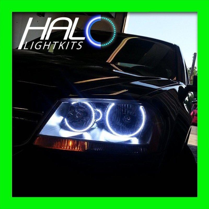 dodge avenger headlights  2008-2014 DODGE AVENGER WHITE LED LIGHT HEADLIGHT HALO KIT ..