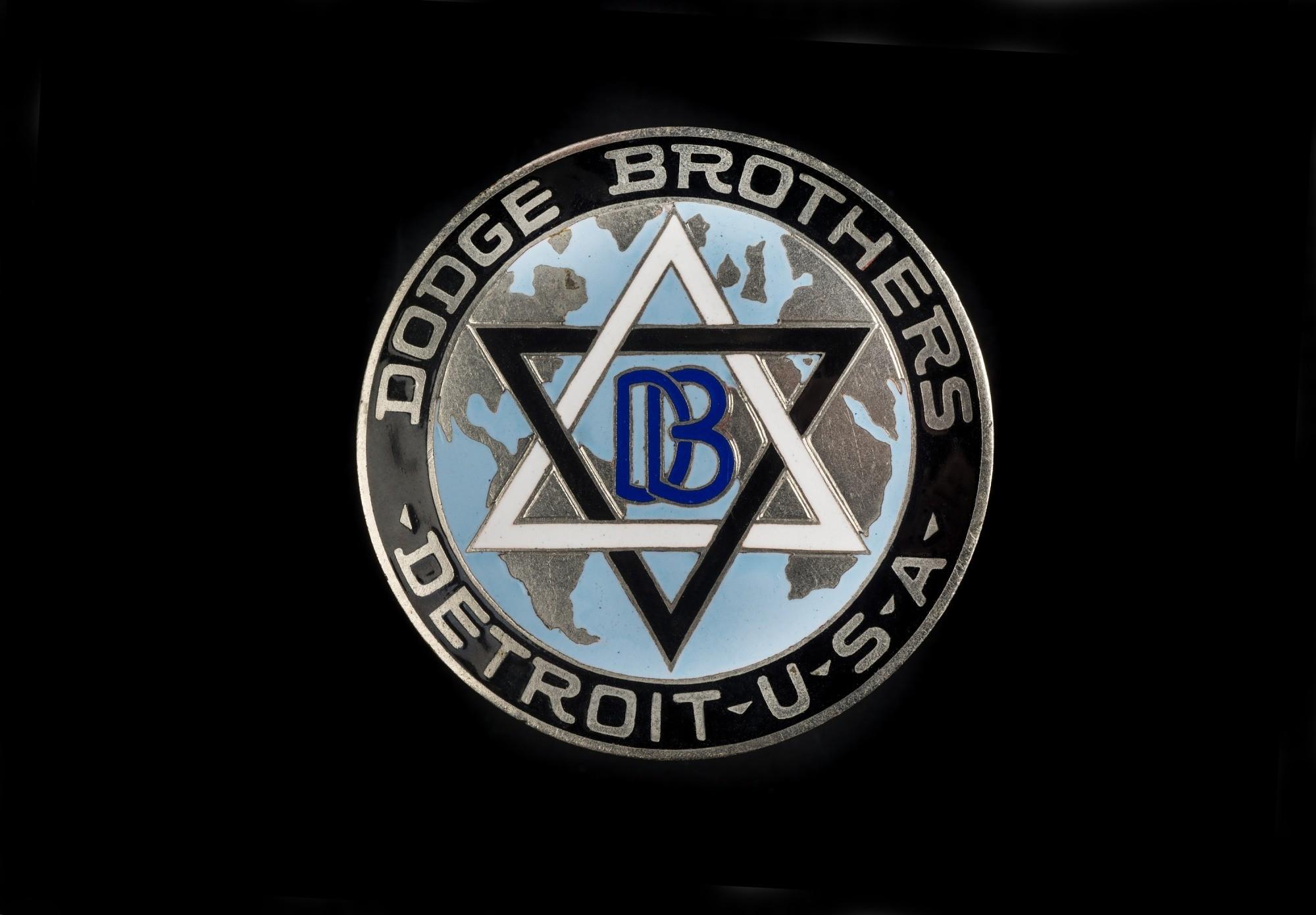 dodge brothers emblem star of david Dodge Brothers Radiator Emblem  National Museum of American History - dodge brothers emblem star of david